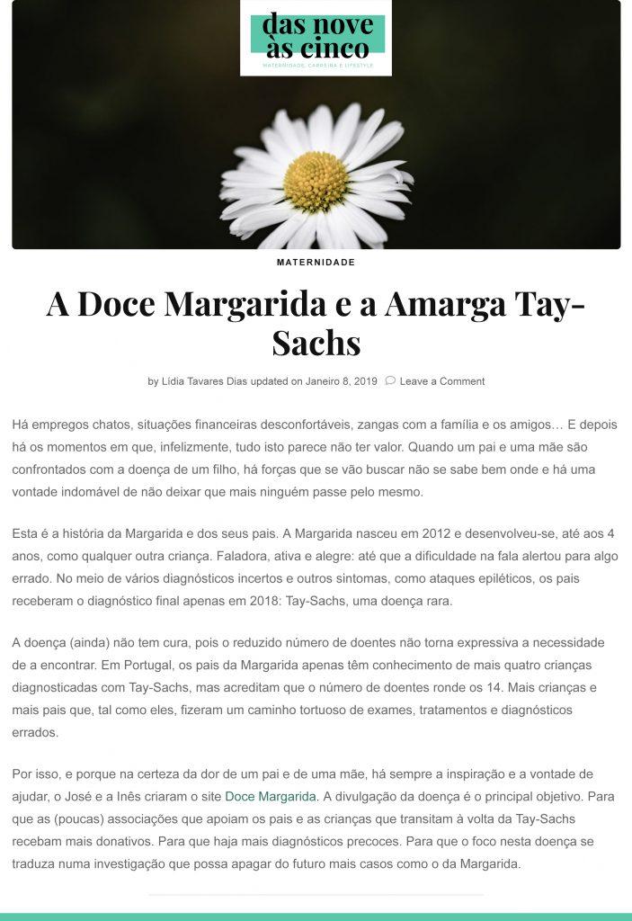 A Doce Margarida e a Amargab Tay-Sachs