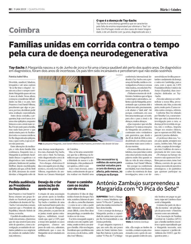 Diário de Coimbra, 9 Janeiro 2019